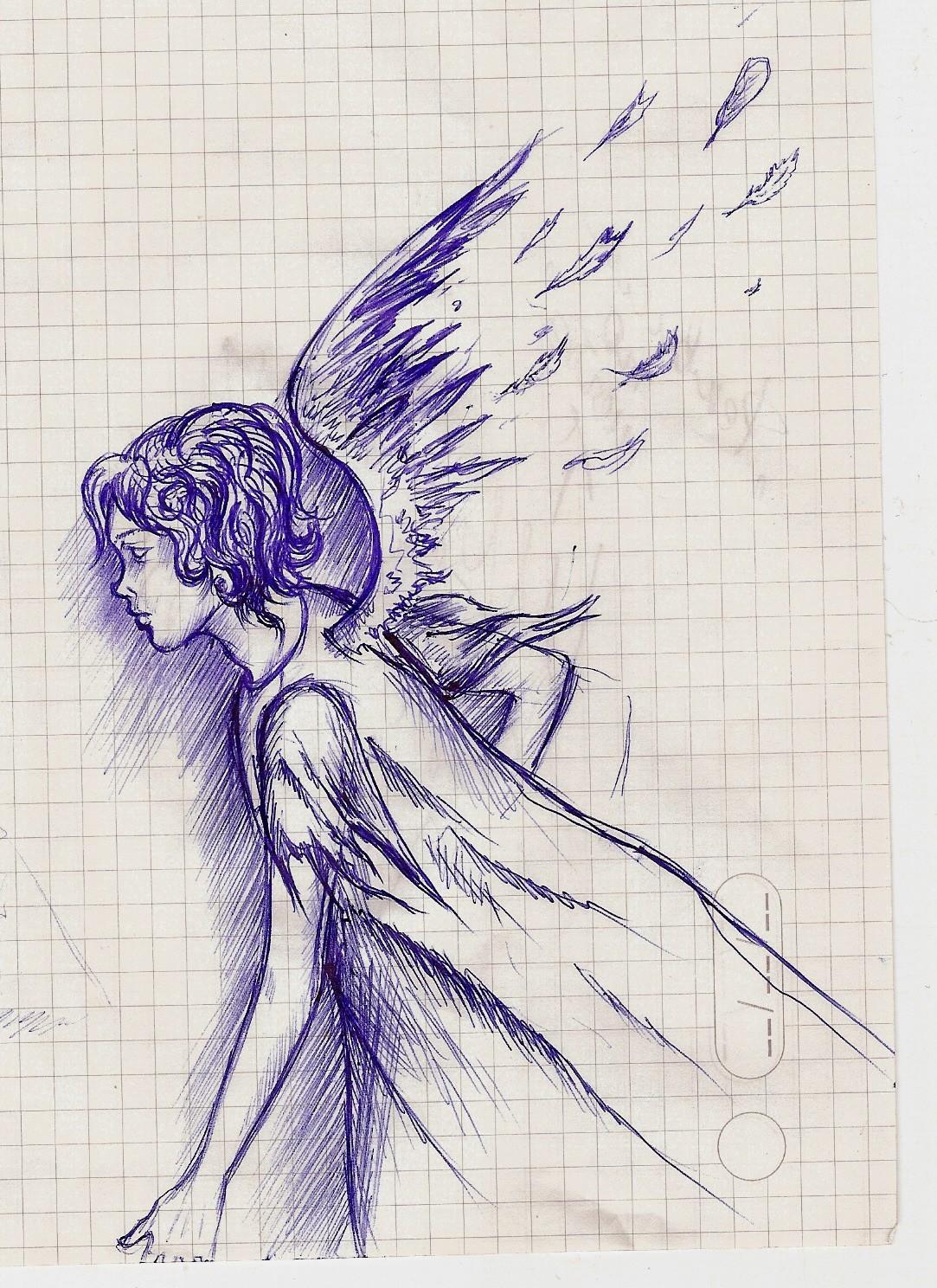 Рисуем ангел картинки